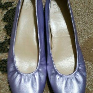 NY&Company Lavender Metallic Flats